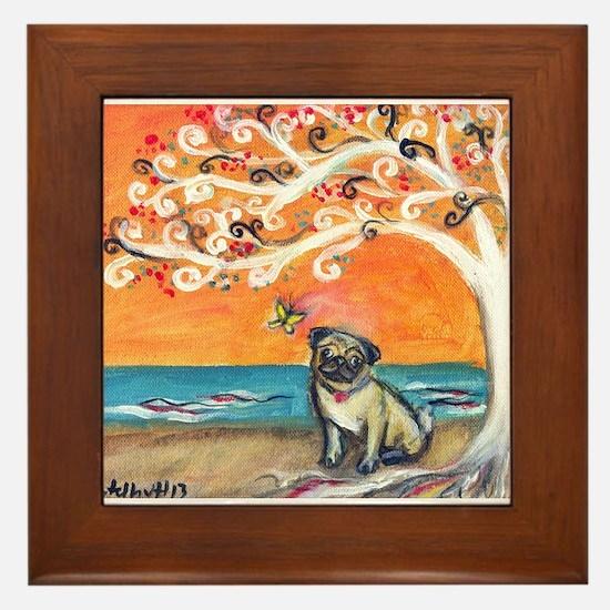 Pug ~the beauty of orange Framed Tile