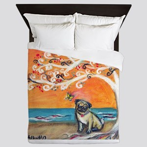 Pug ~the beauty of orange Queen Duvet