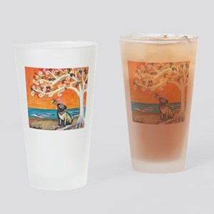 Pug ~the beauty of orange Drinking Glass