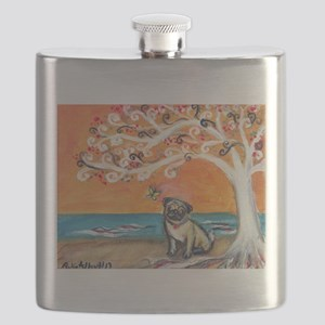 Pug ~the beauty of orange Flask