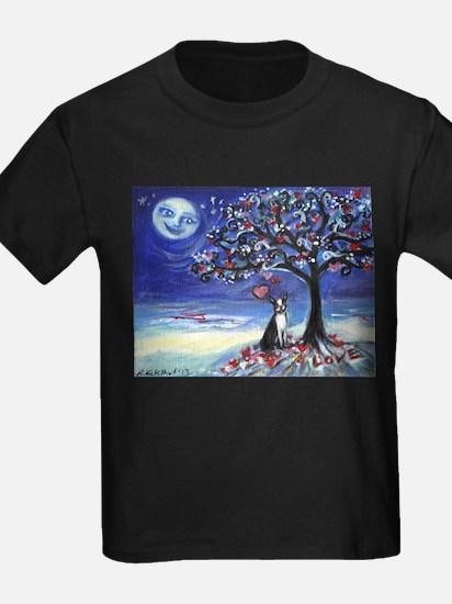 Boston Terrier love hearts T-Shirt