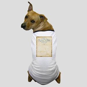 Vintage Damask Scroll Dog T-Shirt