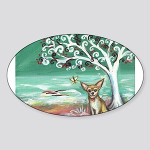 chihuahua spiritual love tree Sticker