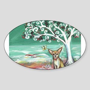 chihuahua spiritual love tree Sticker