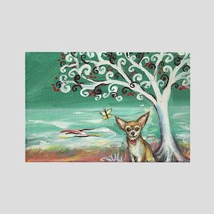 chihuahua spiritual love tree Rectangle Magnet