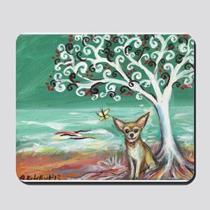 chihuahua spiritual love tree Mousepad