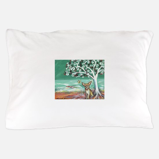 chihuahua spiritual love tree Pillow Case