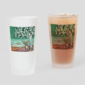 chihuahua spiritual love tree Drinking Glass