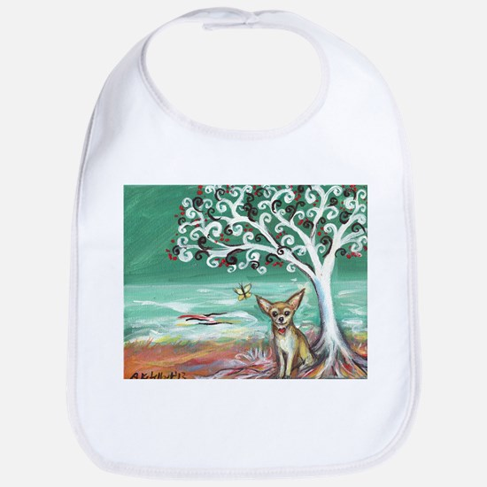 chihuahua spiritual love tree Bib