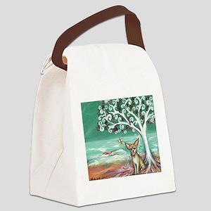 chihuahua spiritual love tree Canvas Lunch Bag