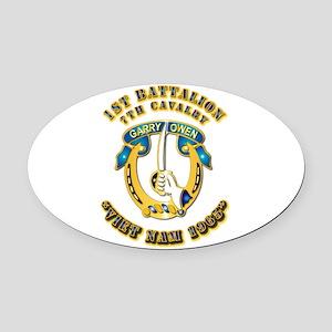 DUI - 1st Battalion 7th Cav VN 65 Oval Car Magnet