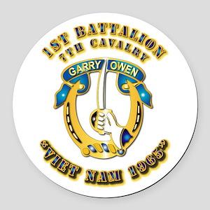DUI - 1st Battalion 7th Cav VN 65 Round Car Magnet