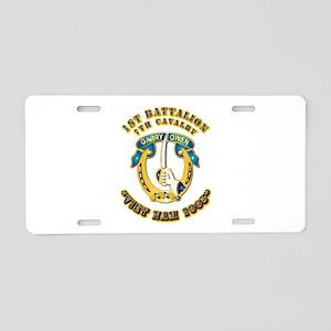 DUI - 1st Battalion 7th Cav VN 65 Aluminum License