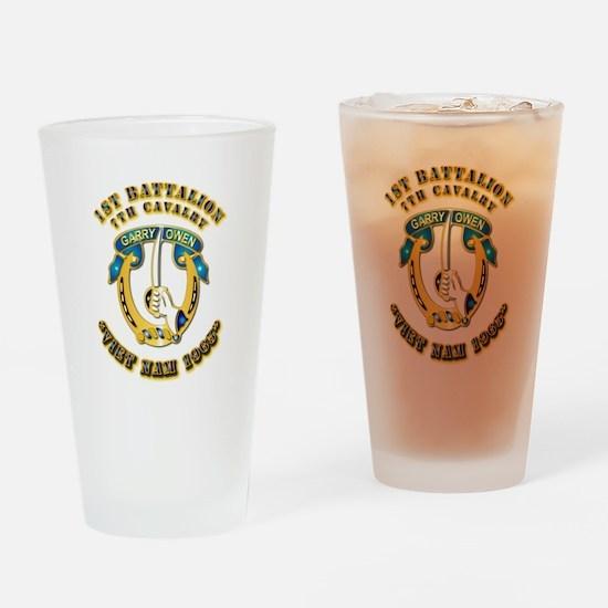 DUI - 1st Battalion 7th Cav VN 65 Drinking Glass