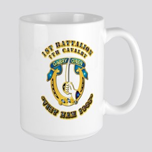 DUI - 1st Battalion 7th Cav VN 65 Large Mug