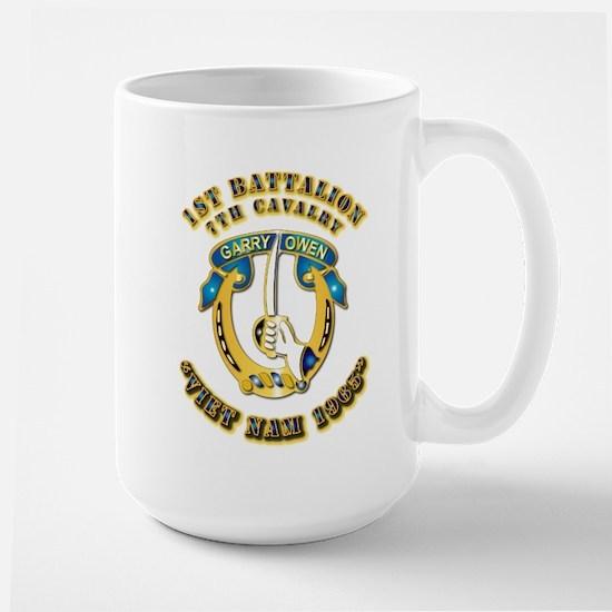 DUI - 1st Battalion 7th Cav VN 65 Large Mug