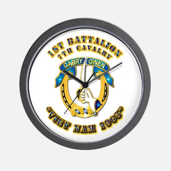 DUI - 1st Battalion 7th Cav VN 65 Wall Clock