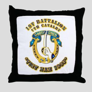 DUI - 1st Battalion 7th Cav VN 65 Throw Pillow