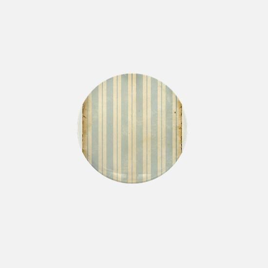 Vintage Blue Stripes Mini Button