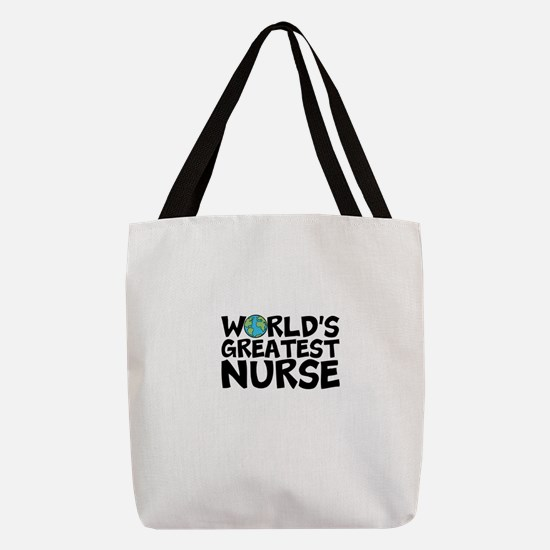 World's Greatest Nurse Polyester Tote Bag
