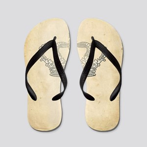 Vintage Royal Crown Flip Flops