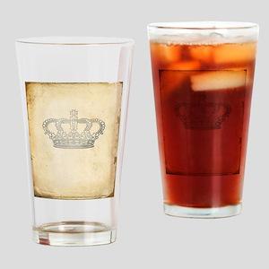 Vintage Royal Crown Drinking Glass