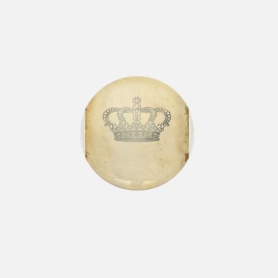 Vintage Royal Crown Mini Button