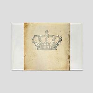 Vintage Royal Crown Rectangle Magnet