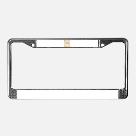 Vintage Royal Crown License Plate Frame