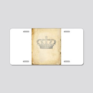 Vintage Royal Crown Aluminum License Plate