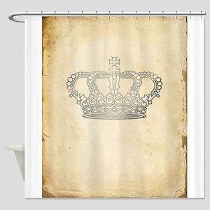 Vintage Royal Crown Shower Curtain