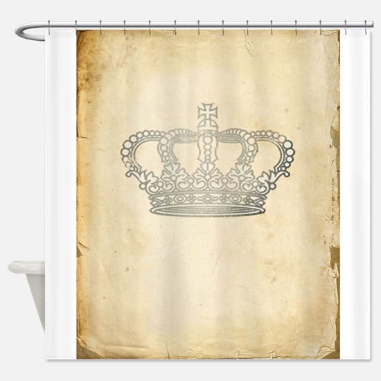 Vintage Royal Crown Shower Curtain