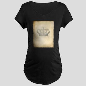 Vintage Royal Crown Maternity T-Shirt