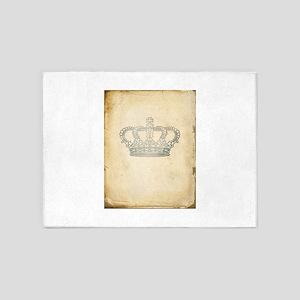 Vintage Royal Crown 5'x7'Area Rug