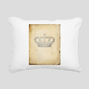 Vintage Royal Crown Rectangular Canvas Pillow