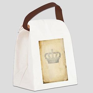 Vintage Royal Crown Canvas Lunch Bag