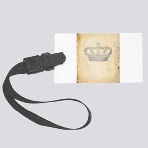 Vintage Royal Crown Luggage Tag