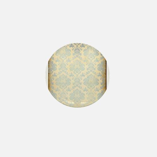 Vintage Damask Mini Button