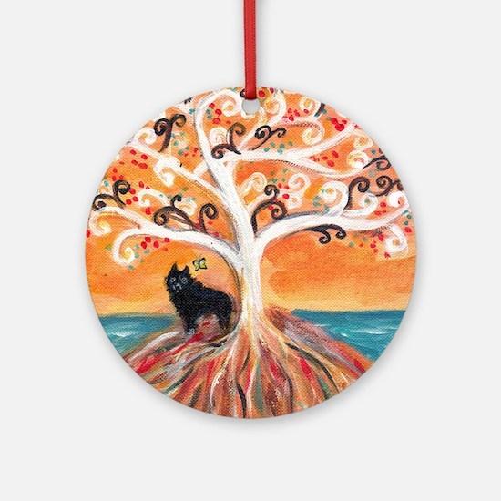 Schipperke spiritual tree Ornament (Round)