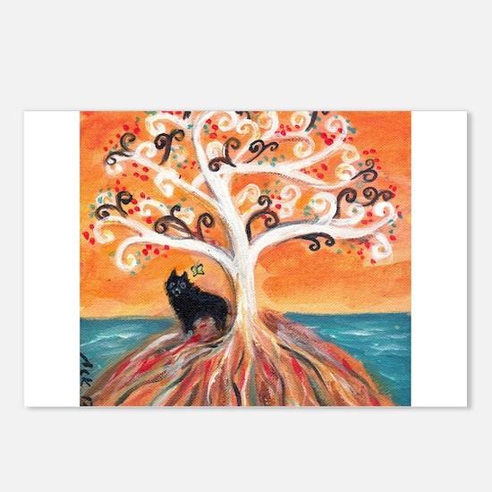 Schipperke spiritual tree Postcards (Package of 8)