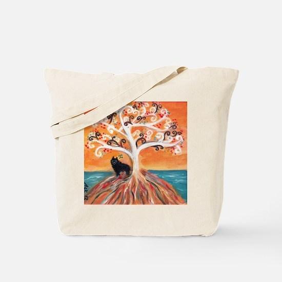 Schipperke spiritual tree Tote Bag