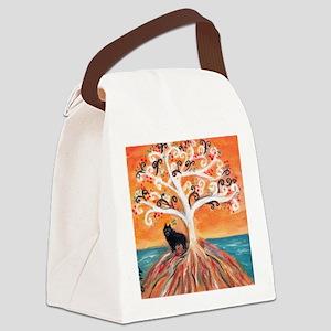 Schipperke spiritual tree Canvas Lunch Bag