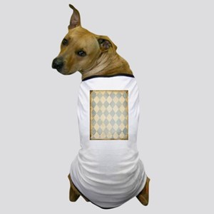 Vintage Blue Diamond Print Dog T-Shirt