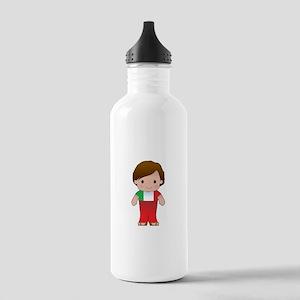 Poppy Italian Boy Stainless Water Bottle 1.0L