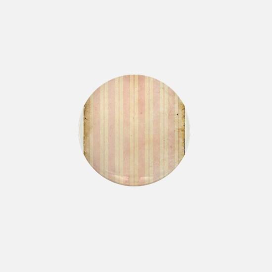 Vintage Pink Stripes Mini Button