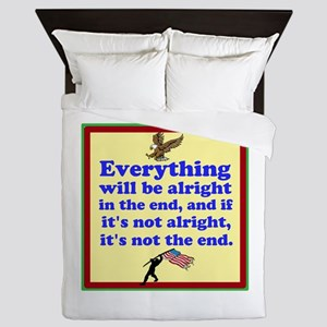 Everything will be alright! Queen Duvet