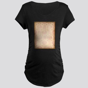 Vintage Pink Damask Maternity T-Shirt