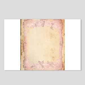 Vintage Rose Frame Postcards (Package of 8)