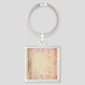 Vintage Rose Frame Keychains