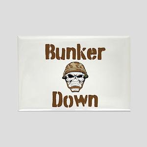 Bunker Down Rectangle Magnet